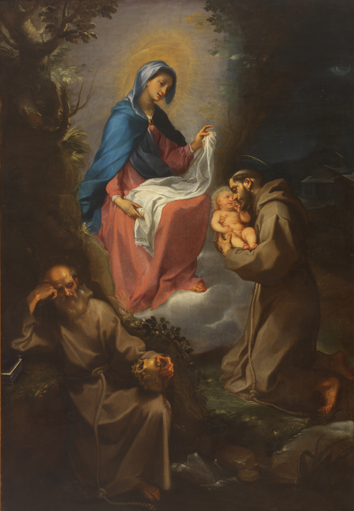 Francesco Vanni, The Virgin and Child Appearing to Saint Francis of Assisi, 1599, oil on canvas. RISD. Corporate Membership Fund, 57.227.