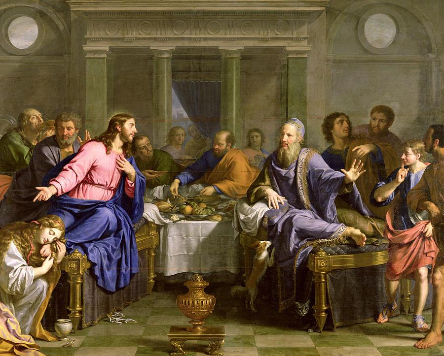 Philippe de Champaigne, Christ at Supper with Simon the Pharisee, 1656, oil on canvas. Musée d'Arts de Nantes.