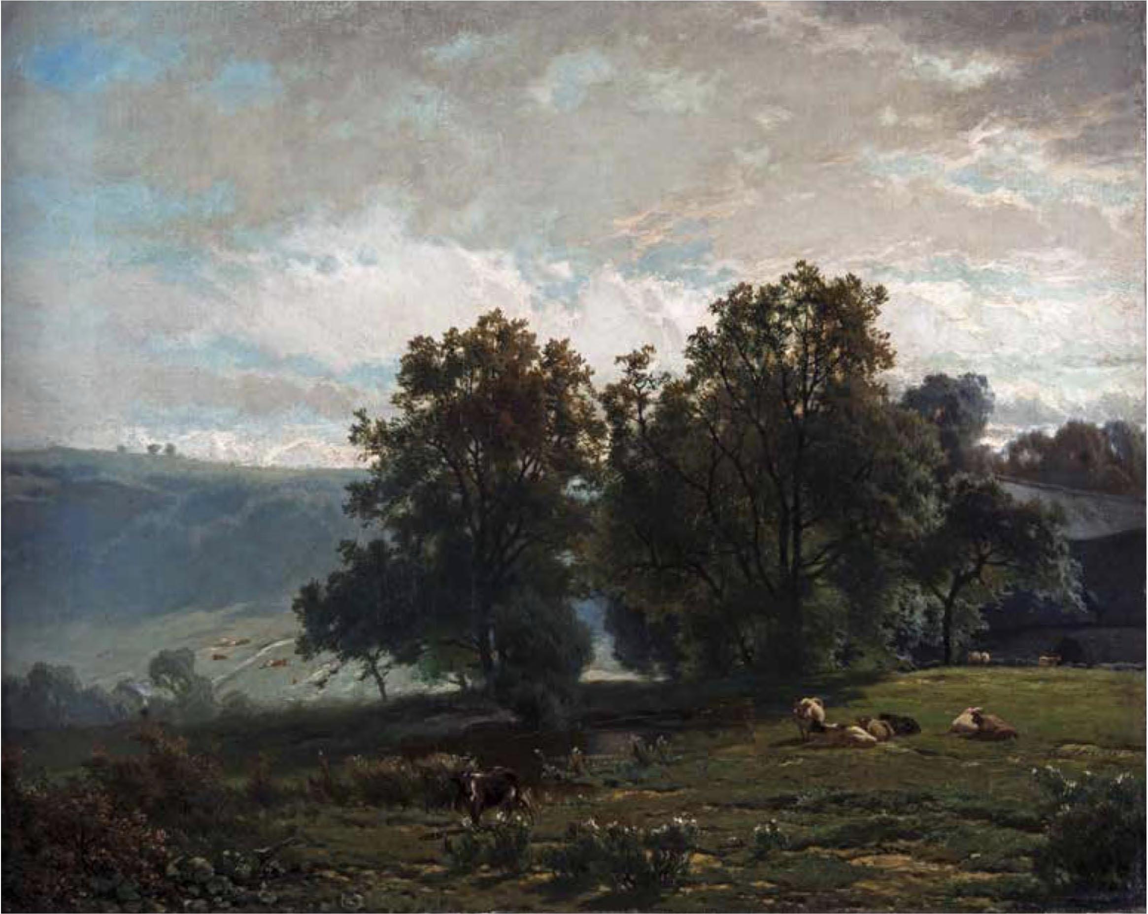 Théodore Fourmois, La Hulpe, 1865, oil on canvas. Hearn Family Trust.