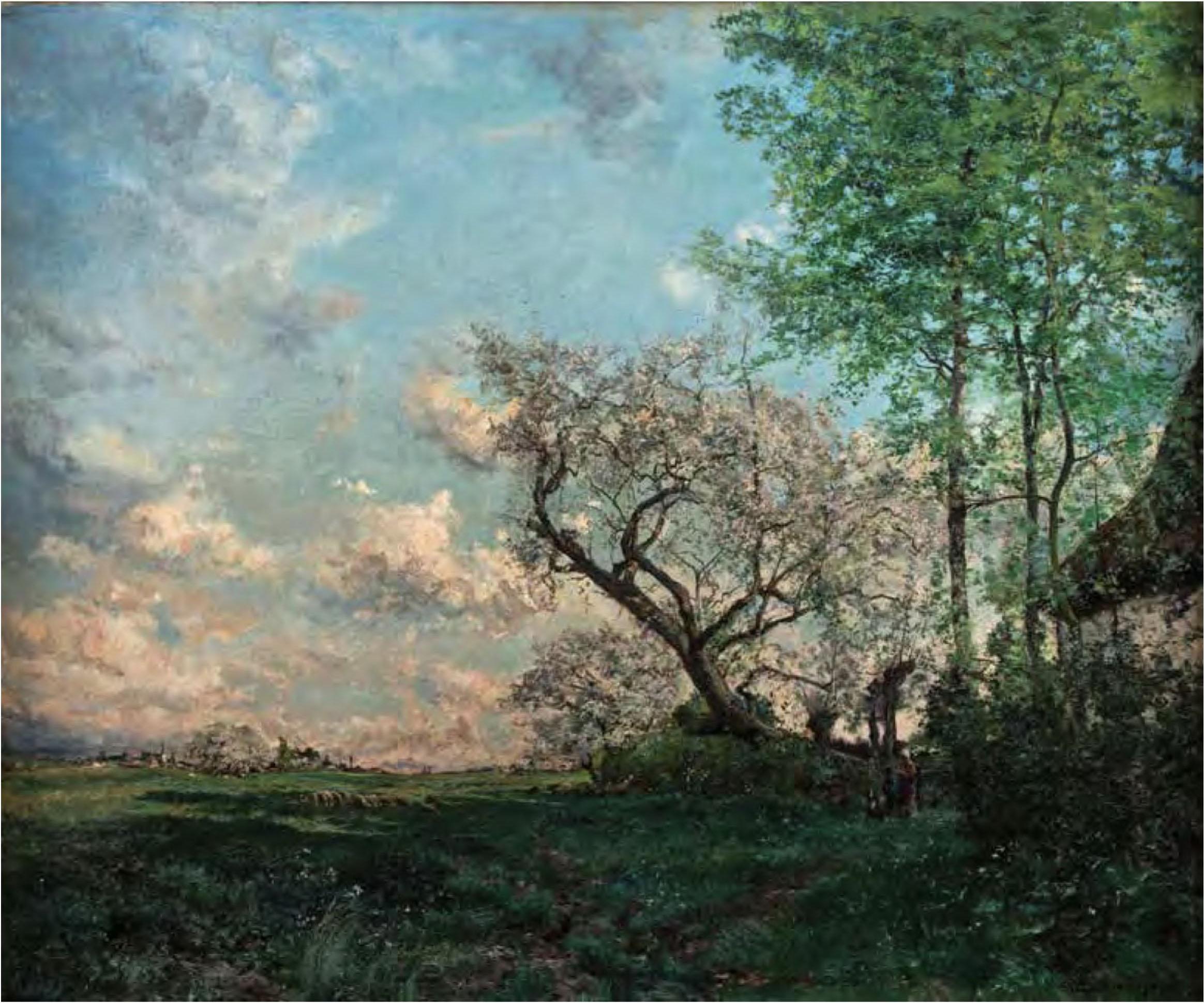 Hyppolite Boulenger, Back on the Farm, 1869, oil on canvas. Hearn Family Trust.