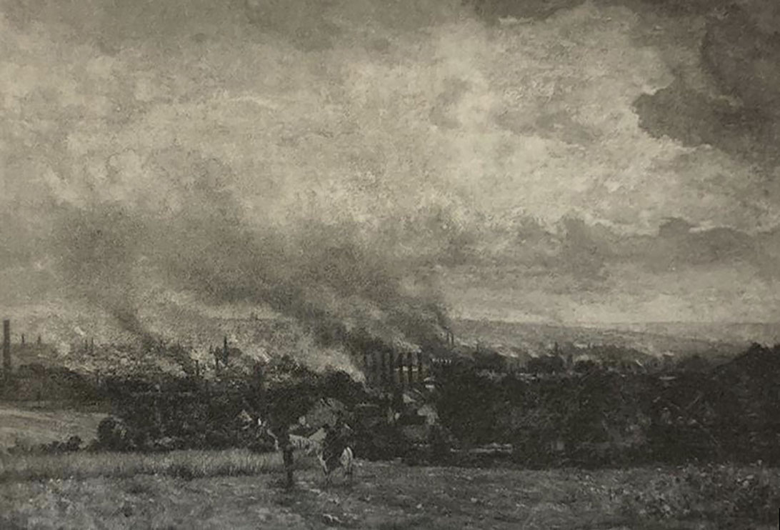 Constantin Meunier, Industrial View of the Borinage (or Industrial View, Charleroi), ca. 1880-82, oil on canvas, Meunier Museum, Royal Museums of Fine Arts of Belgium, Brussels, 283.