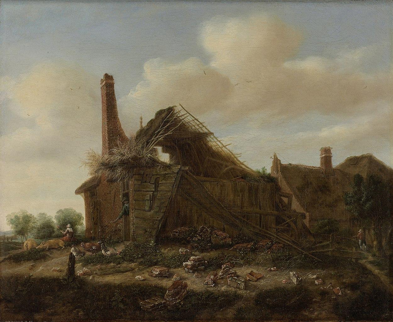 Emanuel Murant, Farmhouse in Ruins, ca. 1650-1700, oil on canvas, Rijksmuseum, Amsterdam.