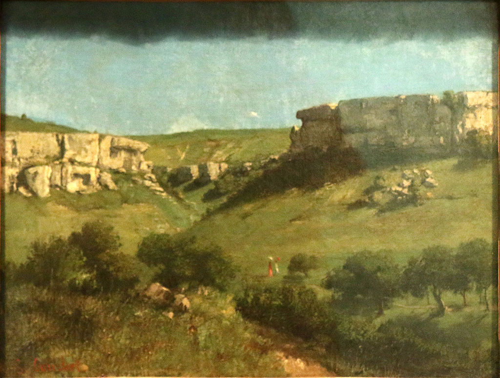 Gustave Courbet, Landscape at Ornans, ca. 1855, oil on canvas, Royal Museums of Fine Arts of Belgium, Brussels, 4009.