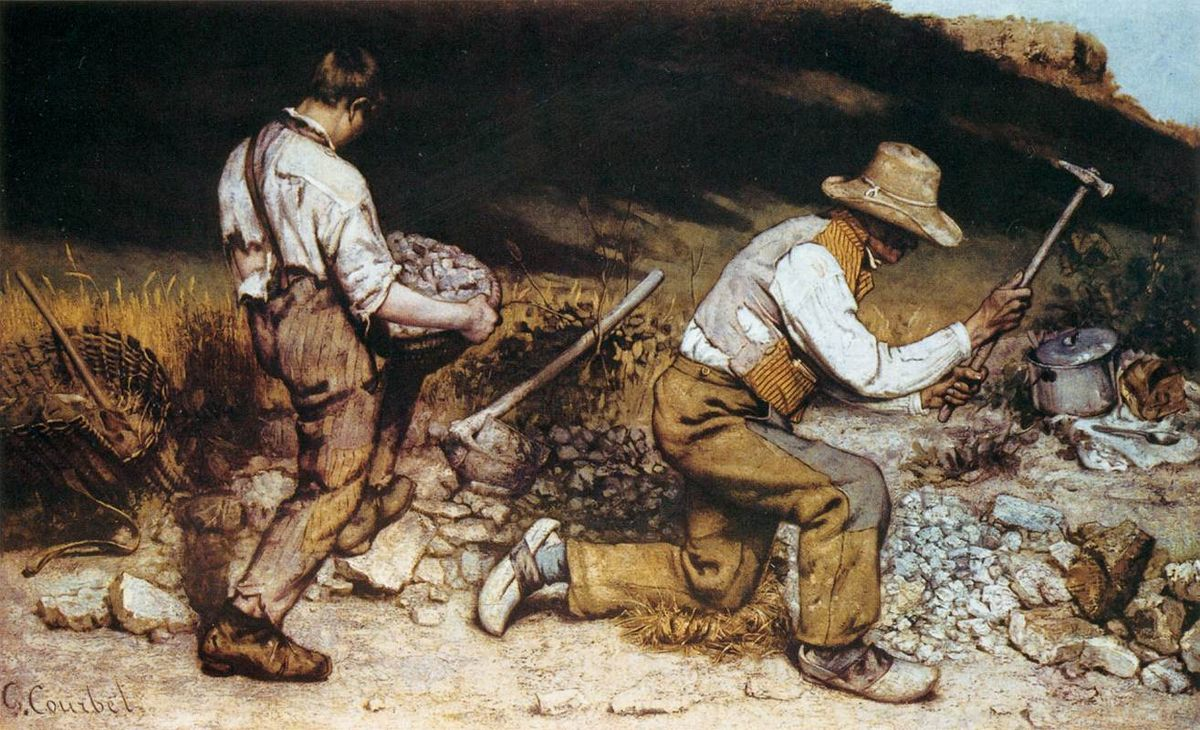 Gustave Courbet, Stonebreakers, 1849, oil on canvas.