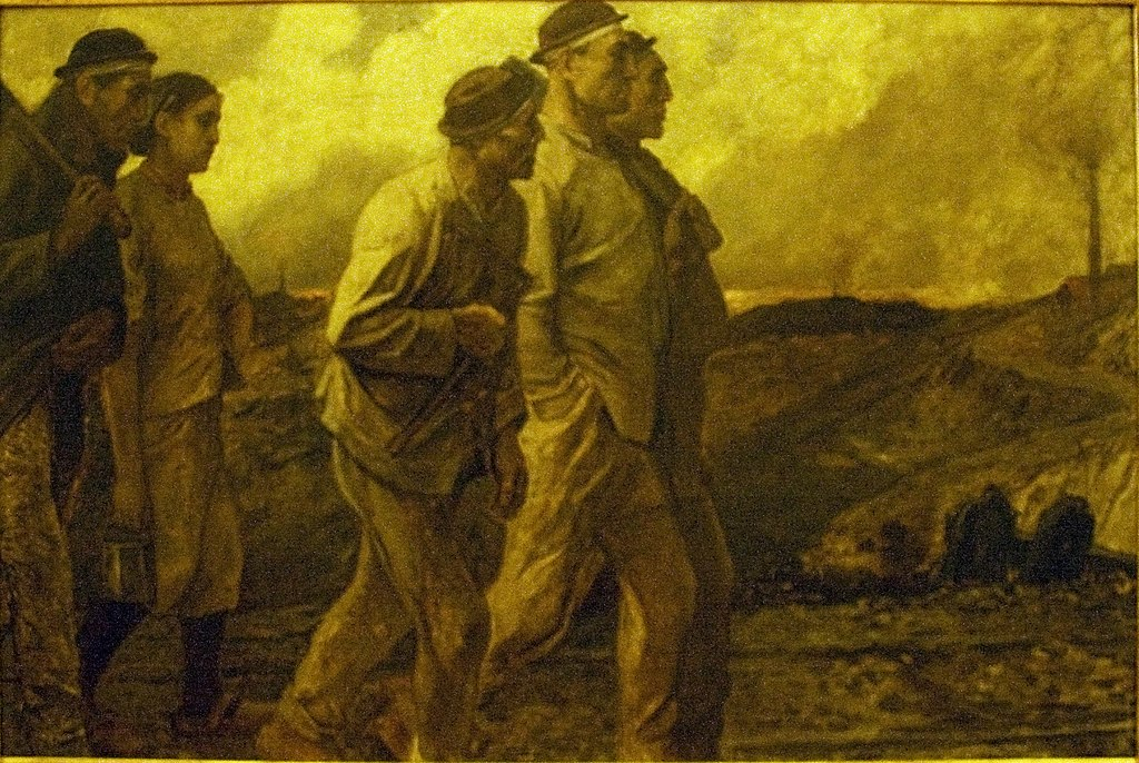 Constantin Meunier, The Return of the Miners, n.d., oil on canvas, Meunier Museum, Royal Museums of Fine Arts of Belgium, Brussels, 203.