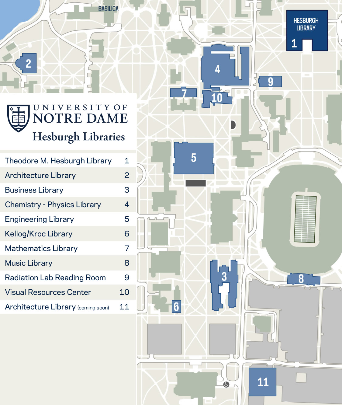 Visitor Information | Hesburgh Liries on west alabama campus map, oaks christian campus map, navy campus map, ohio st campus map, yeshiva campus map, saint michael's campus map, penn st campus map, fort valley state campus map, ames campus map, peru state campus map, western state campus map, florida st campus map, cardinal newman campus map, harvard campus map, ole miss campus map, southeastern louisiana campus map, montana western campus map, ndnu campus map, syracuse u campus map, duke university campus map,